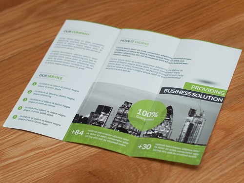Folded DL Leaflets